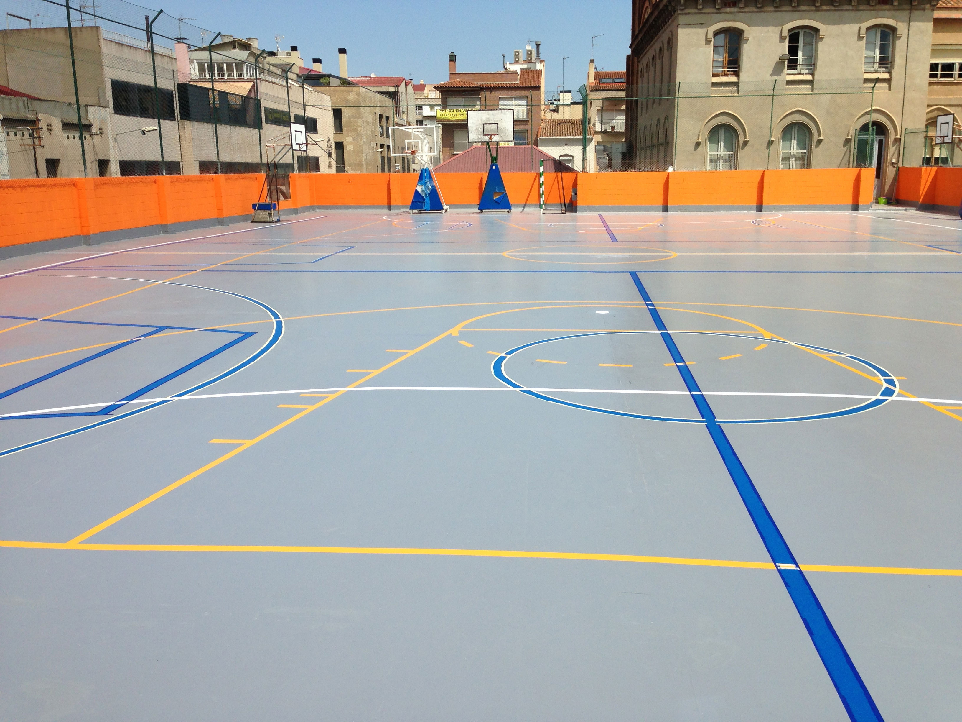 Rehabilitación pistas deportivas Barcelona