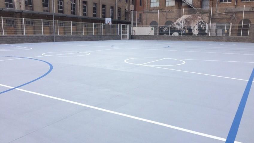 Suelos pavimento pista basket