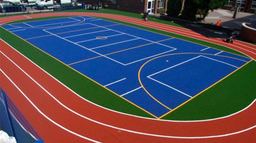Rehabilitación y pintura de pavimentos deportivos