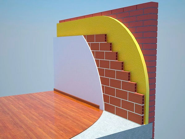 Aislamiento pared edificio