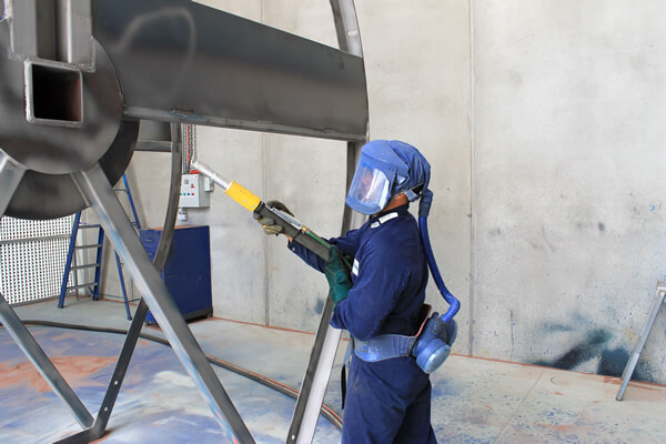 Aplicación de recubrimiento para la corrosión