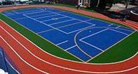 Servicios de pintura para suelos de pistas deportivas