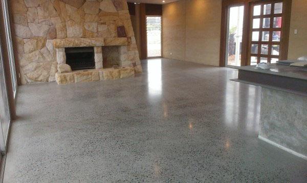 proceso de pavimentación con hormigón pulido