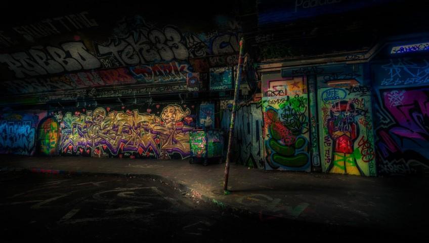 Eliminar graffiti pared ciudad